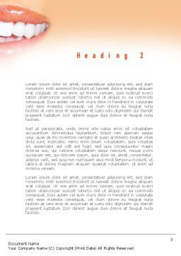 Teeth Whitening Word Template, Second Inner Page, 11036, Medical — PoweredTemplate.com