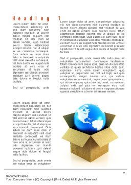 Global Supply Word Template, First Inner Page, 11037, Careers/Industry — PoweredTemplate.com