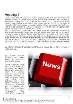 Online Newsletter Word Template First Inner Page