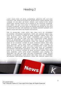 Online Newsletter Word Template Second Inner Page