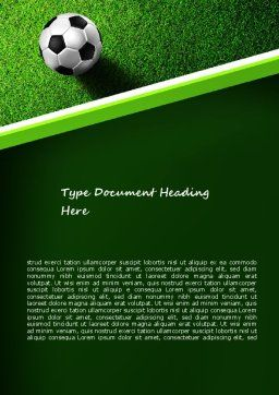 Soccer Ball Near Line Word Template, Cover Page, 11039, Sports — PoweredTemplate.com