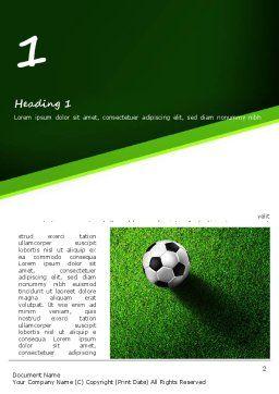 Soccer Ball Near Line Word Template, First Inner Page, 11039, Sports — PoweredTemplate.com