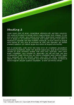 Soccer Ball Near Line Word Template, Second Inner Page, 11039, Sports — PoweredTemplate.com