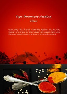 Bright Spices Word Template, Cover Page, 11040, Food & Beverage — PoweredTemplate.com