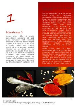 Bright Spices Word Template, First Inner Page, 11040, Food & Beverage — PoweredTemplate.com