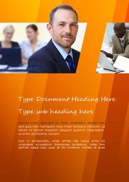 Business Consulting Word Template, Cover Page, 11041, Consulting — PoweredTemplate.com