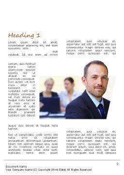 Business Consulting Word Template, First Inner Page, 11041, Consulting — PoweredTemplate.com