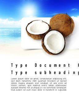 Coconut Word Template, Cover Page, 11042, Careers/Industry — PoweredTemplate.com