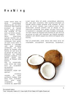 Coconut Word Template First Inner Page