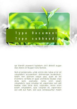 Green Presentation Word Template, Cover Page, 11044, Nature & Environment — PoweredTemplate.com