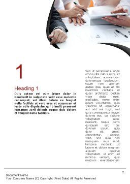 Working Process at Business Meeting Word Template, First Inner Page, 11045, Business — PoweredTemplate.com