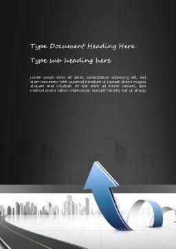 City Economy Word Template, Cover Page, 11047, Construction — PoweredTemplate.com
