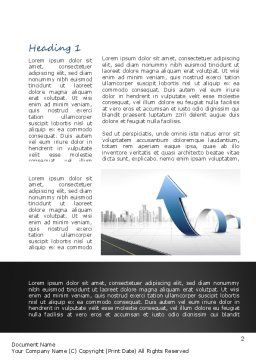 City Economy Word Template, First Inner Page, 11047, Construction — PoweredTemplate.com