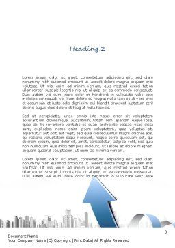 City Economy Word Template, Second Inner Page, 11047, Construction — PoweredTemplate.com