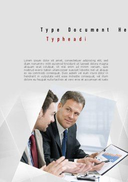 Financial Manager Word Template, Cover Page, 11051, Financial/Accounting — PoweredTemplate.com