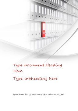 Archive Folder Word Template, Cover Page, 11053, Careers/Industry — PoweredTemplate.com