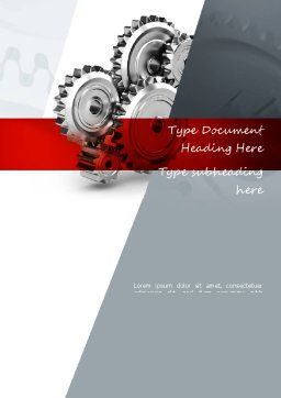 Perpetuum Mobile Gears Word Template, Cover Page, 11055, Construction — PoweredTemplate.com