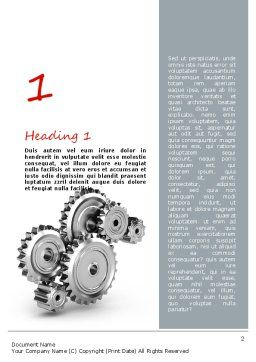 Perpetuum Mobile Gears Word Template, First Inner Page, 11055, Construction — PoweredTemplate.com