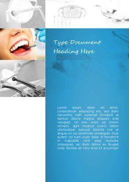 Dental Care Word Template, Cover Page, 11057, Medical — PoweredTemplate.com