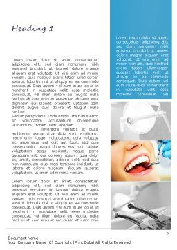 Dental Care Word Template, First Inner Page, 11057, Medical — PoweredTemplate.com