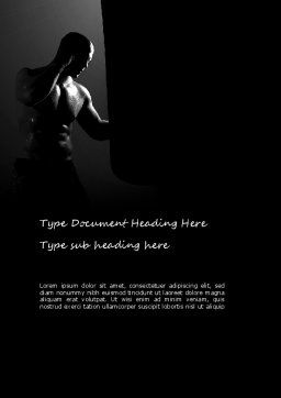 Professional Fighter Word Template, Cover Page, 11058, Sports — PoweredTemplate.com