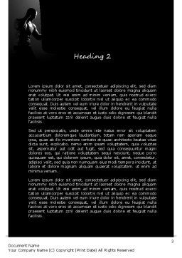 Professional Fighter Word Template, Second Inner Page, 11058, Sports — PoweredTemplate.com