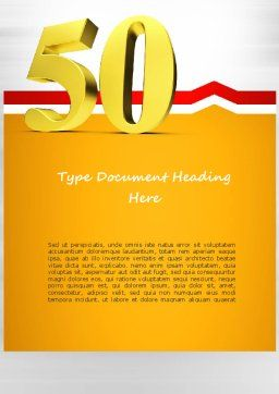 50 Word Template, Cover Page, 11062, Holiday/Special Occasion — PoweredTemplate.com