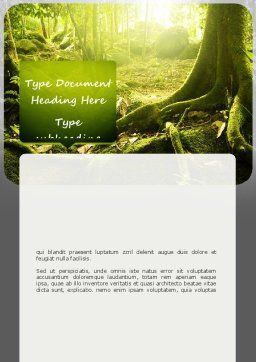 Jungles Word Template, Cover Page, 11063, Nature & Environment — PoweredTemplate.com