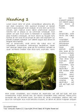 Jungles Word Template, First Inner Page, 11063, Nature & Environment — PoweredTemplate.com