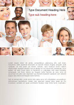 Preventative Dentistry Word Template, Cover Page, 11067, Medical — PoweredTemplate.com