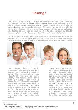Preventative Dentistry Word Template, First Inner Page, 11067, Medical — PoweredTemplate.com