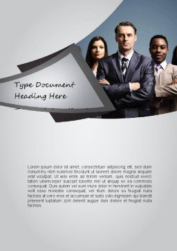 Business People Word Template, Cover Page, 11068, Business — PoweredTemplate.com