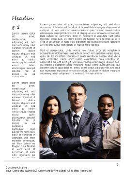 Business People Word Template, First Inner Page, 11068, Business — PoweredTemplate.com