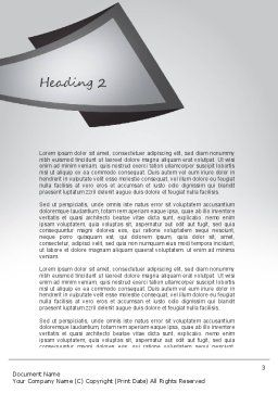 Business People Word Template, Second Inner Page, 11068, Business — PoweredTemplate.com