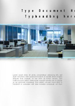 Clean Office Word Template, Cover Page, 11069, Careers/Industry — PoweredTemplate.com