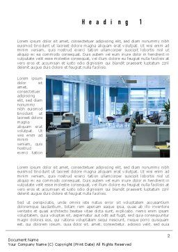 Clean Office Word Template First Inner Page