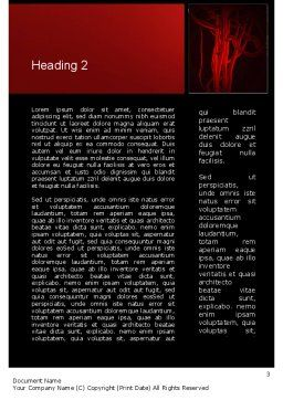 Temporomandibular Joint Word Template, Second Inner Page, 11070, Medical — PoweredTemplate.com