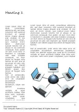 Network and Communication Word Template, First Inner Page, 11072, Telecommunication — PoweredTemplate.com