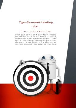 Business Android with Target Word Template, Cover Page, 11073, Business Concepts — PoweredTemplate.com