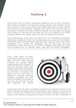 Business Android with Target Word Template, First Inner Page, 11073, Business Concepts — PoweredTemplate.com