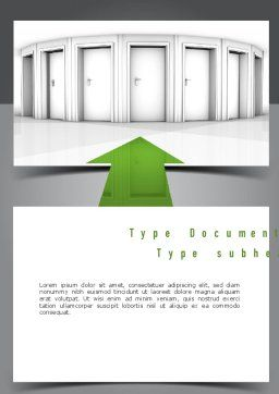 Choosing The Right Way Word Template Cover Page