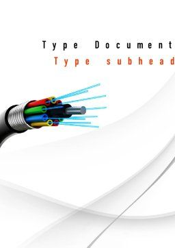 Fiber Optic Cable Word Template, Cover Page, 11077, Technology, Science & Computers — PoweredTemplate.com