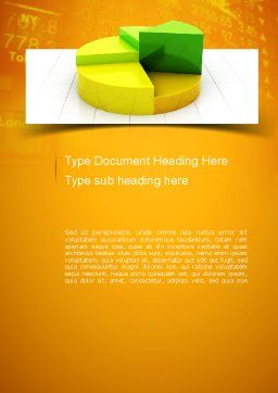Colorful 3D Pie Chart Word Template Cover Page