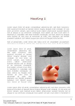 Savings Under Umbrella Word Template First Inner Page