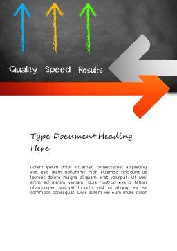 Quality Speed Results Word Template, Cover Page, 11087, Business Concepts — PoweredTemplate.com