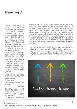 Quality Speed Results Word Template, First Inner Page, 11087, Business Concepts — PoweredTemplate.com