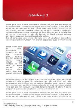 Social Media Applications Word Template, First Inner Page, 11088, Technology, Science & Computers — PoweredTemplate.com