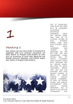 Painted American Flag Word Template, First Inner Page, 11089, America — PoweredTemplate.com