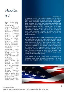 America Stand Strong Word Template, First Inner Page, 11090, America — PoweredTemplate.com