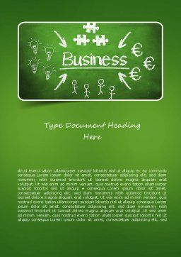 Business Development Concept Word Template Cover Page